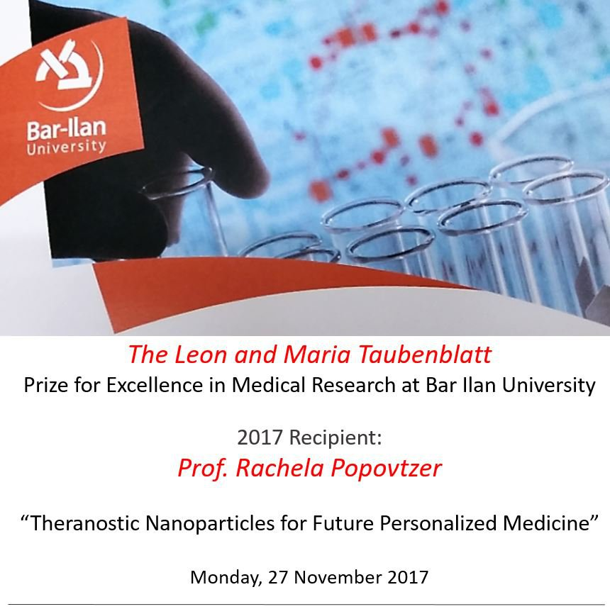 Warm congratulations, Rachela, for winning the Leon and Maria Taubenblatt Prize for Excellence in Medical Research, 2017! Your whole team is very proud!