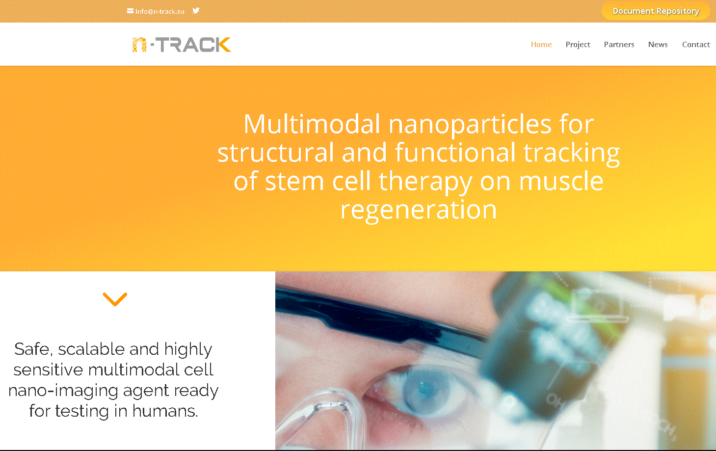 "Check out the new site for our Horizon 2020 project! ""nTRACK: Multimodal nanoparticles for structural and functional tracking of stem cell therapy on muscle regeneration"".